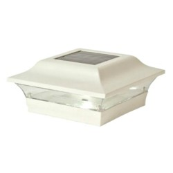 Classy Caps 5 x 5 Aluminum Imperial  Solar Post Cap - White (SL214W)