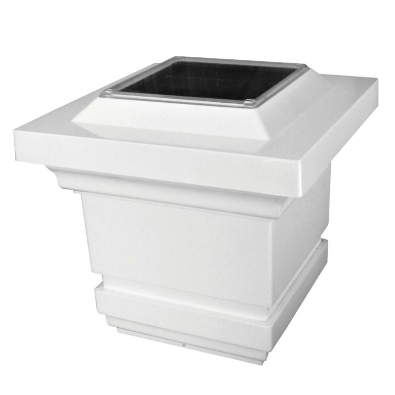 Classy Caps 3.5X3.5 PVC Classy Solar Post Cap - White (SL073W)
