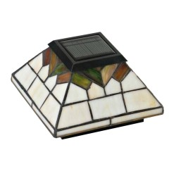 Classy Caps 5x5/4x4/3.5x3.5  Wellington Solar Post Cap -  Stained Glass (WG322)