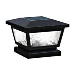 Classy Caps 5x5/4x4/3.5x3.5 Fairmont Solar Post Cap - Black (FS100B)