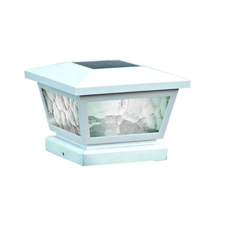 Classy Caps 5x5/4x4/3.5x3.5 Fairmont Solar Post Cap - White (FS100W)