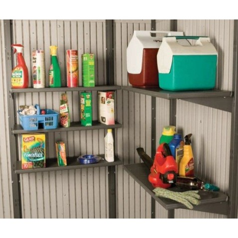 Lifetime 5 Piece 30 x 14 in. Shelf Accessory Kit for 11 ft Storage Buildings 0115