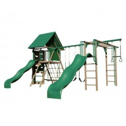 Lifetime Double Slide Deluxe Playset (Earthtone) 90240