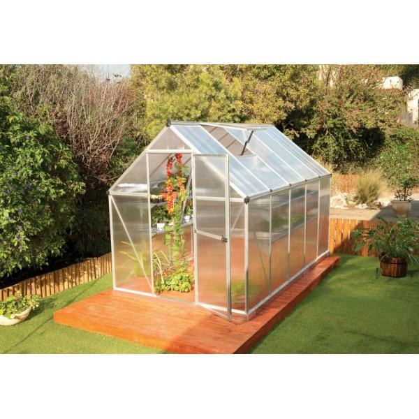 Palram Mythos 6x14 Hobby Greenhouse Kit Silver Hg5014