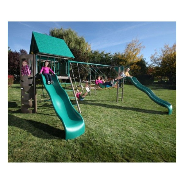Lifetime Double Slide Deluxe Playset Earthtone 90240