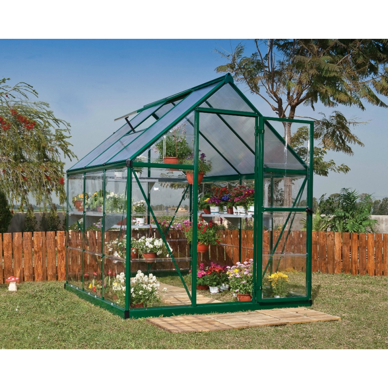 Palram Hybrid 6x6 Greenhouse Kit - Green (HG5506G)
