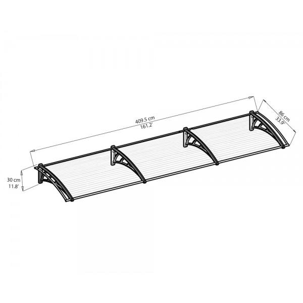 Palram Neo 4050 Awning Kit - Clear (HG9572)