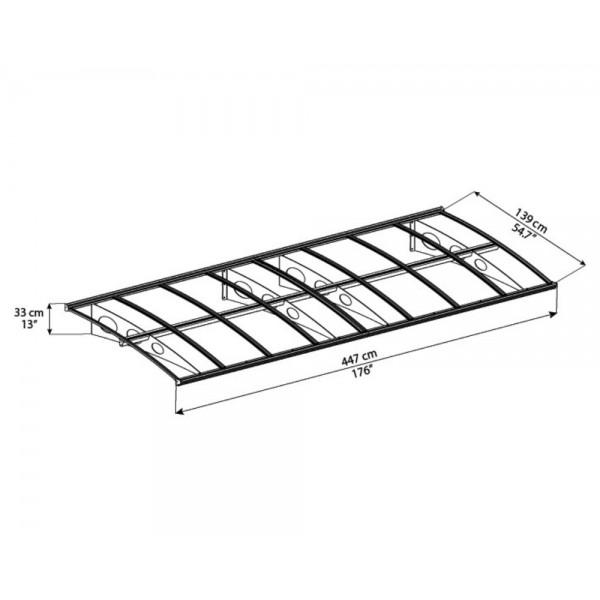 palram herald 4460 awning kit  hg9581