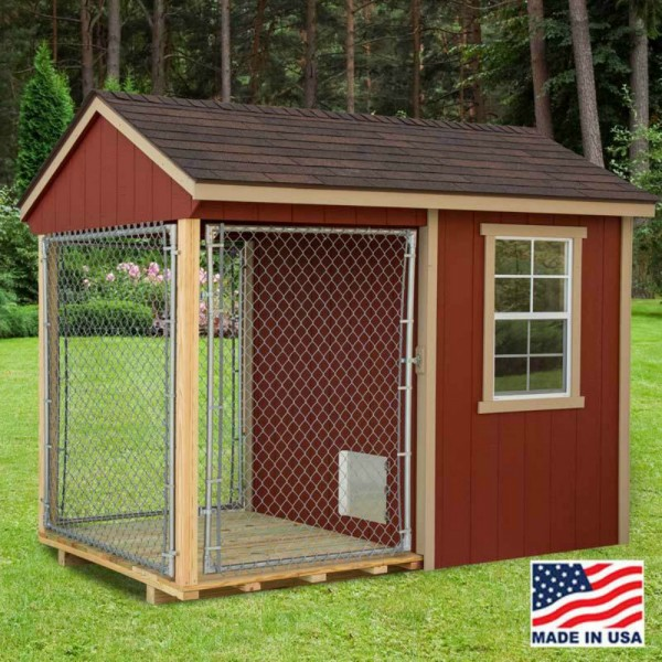 Home Design Ideas For Dogs: EZ-Fit 6x10 Wood Dog Kennel Kit W/ Windows