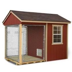 EZ-Fit 6x10 Wood Dog Kennel Kit w/ Windows (ez_kennel610)