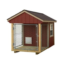 EZ-Fit 5x8 Wood Dog Kennel Kit w/ Windows (ez_kennel58)