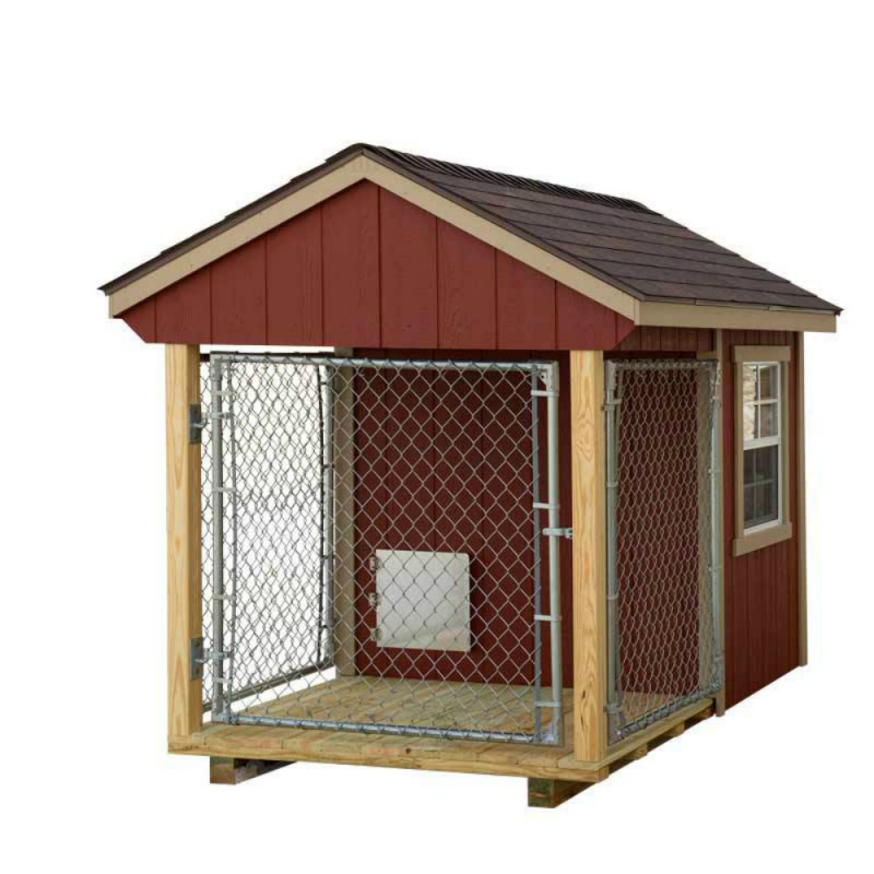 EZ-Fit 5x8 Wood Dog Kennel Kit w/ Windows