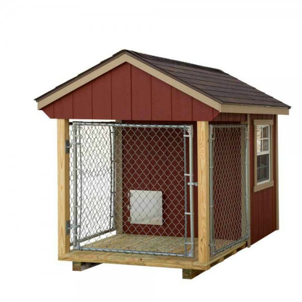 ez fit 5x8 wood dog kennel kit w windows With wooden dog kennel kits