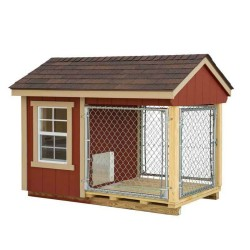 EZ-Fit 4x7 Wood Dog Kennel Kit w/ Windows