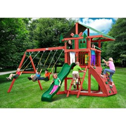 Gorilla Highcrest Cedar Wood Swing Set - Redwood (01-0079)