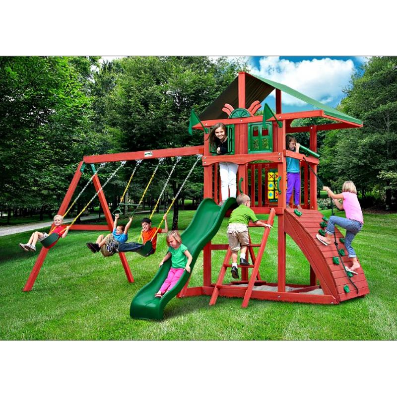 Gorilla Highcrest Cedar Wood Swing Set - Redwood (01-0079)