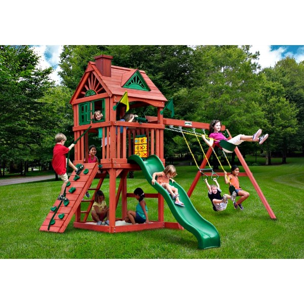 Gorilla Nantucket Backyard Cedar Wood Swing Set Kit ...