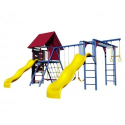 Lifetime Double Slide Deluxe Playset - Primary Colors (90274)