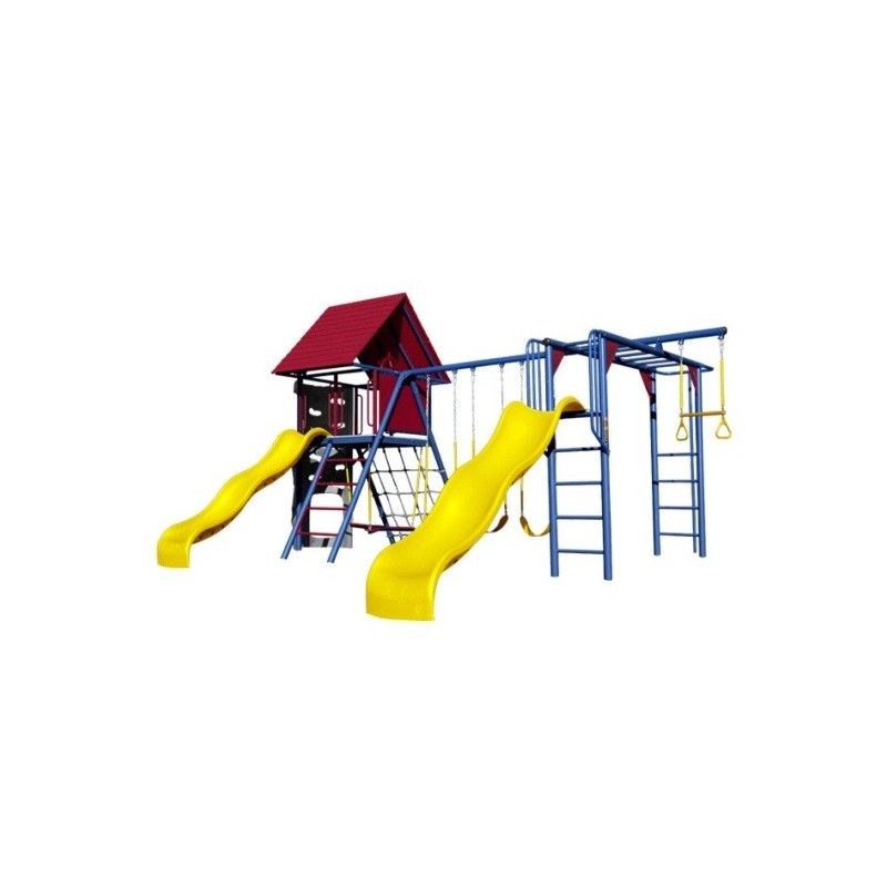lifetime double slide deluxe playset primary colors - Lifetime Adventure Tower Playset