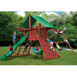 Gorilla Sun Valley I Cedar Wood Swing Set Kit - Redwood (01-0010)