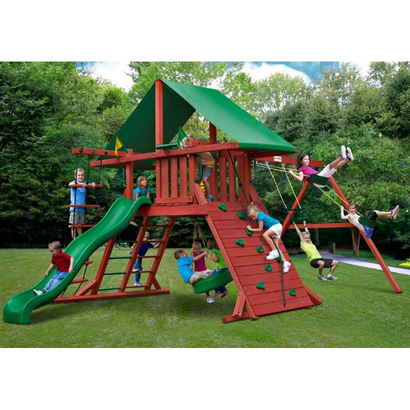 Gorilla Sun Valley I Cedar Wood Swing Set Kit - Redwood (01-0010)