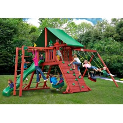 Gorilla Sun Valley II Cedar Wood Swing Set Kit - Redwood (01-0011)