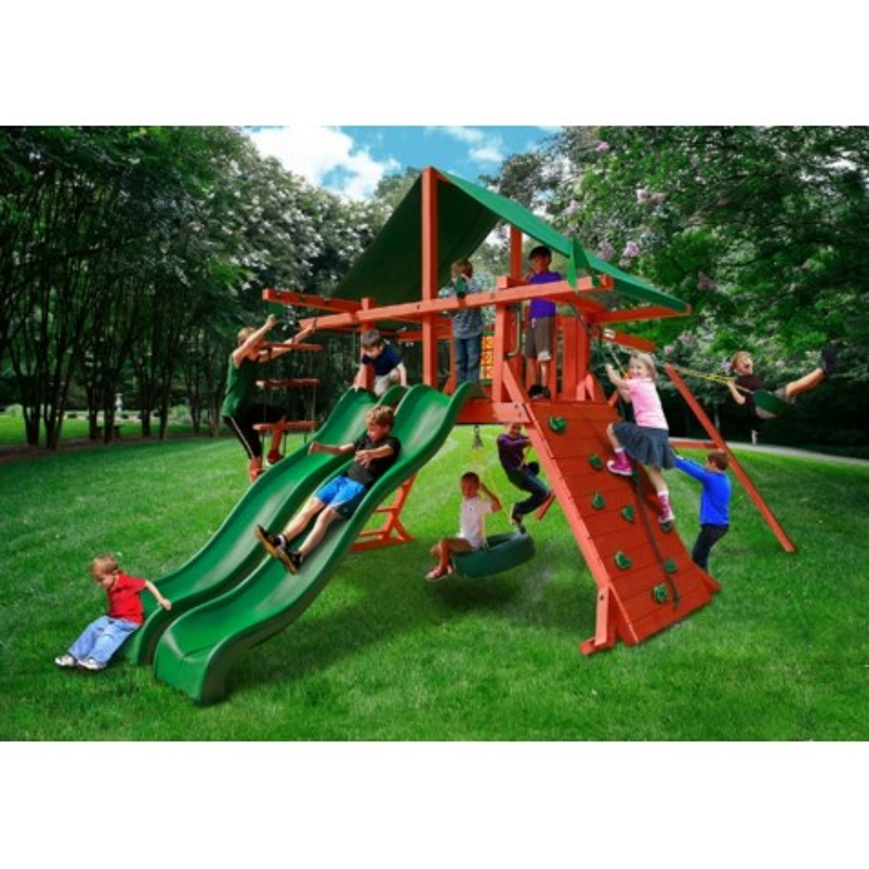 Gorilla Sun Valley Extreme Cedar Wood Swing Set Kit - Redwood (01-0041-1)