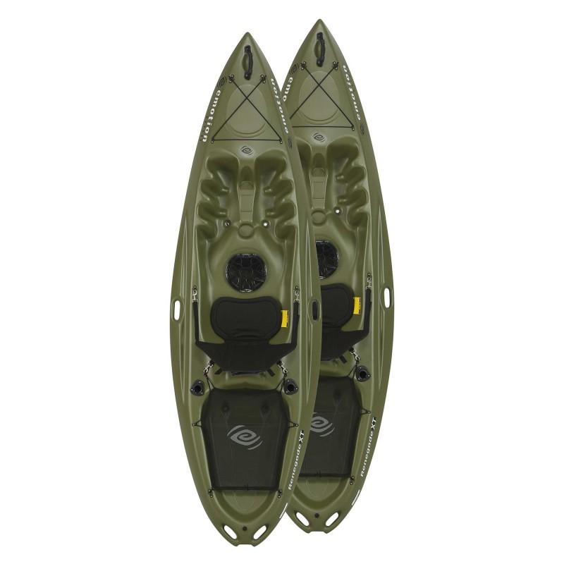 Emotion 2-Pack 10 ft Renegade Plastic Kayaks - Olive Green (90733)
