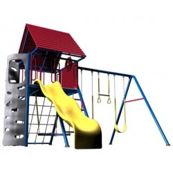 Lifetime Heavy-Duty Metal Playset with Clubhouse (Primary Colors) 90137