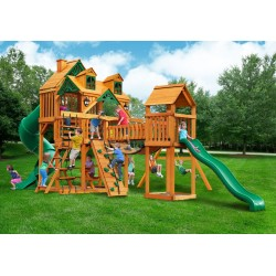 Gorilla Malibu Treasure Trove I Cedar Wood Swing Set Kit - Amber (01-0077-TS)