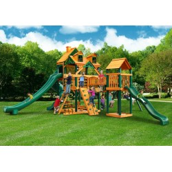 Gorilla Malibu Treasure Trove II Cedar Wood Swing Set Kit w/ Timber Shield™ - Amber (01-0078-TS)