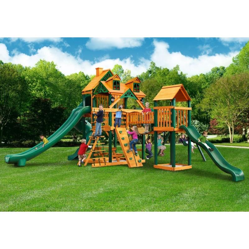 Gorilla Malibu Treasure Trove II Cedar Wood Swing Set Kit w/ Timber Shield™ - Amber (01-0078-TS)