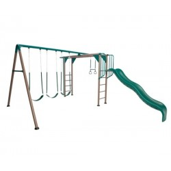 Lifetime Monkey Bar Swing Set (Earthtone) 90143