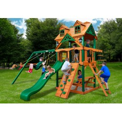 Gorilla Malibu w/ Timber Shield Swing Set Kit - Amber (01-0045-TS)