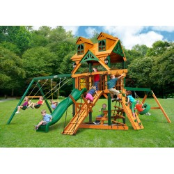 Gorilla Malibu Frontier Cedar Wood Swing Set Kit w/ Timber Shield™ - Amber (01-0075-TS)