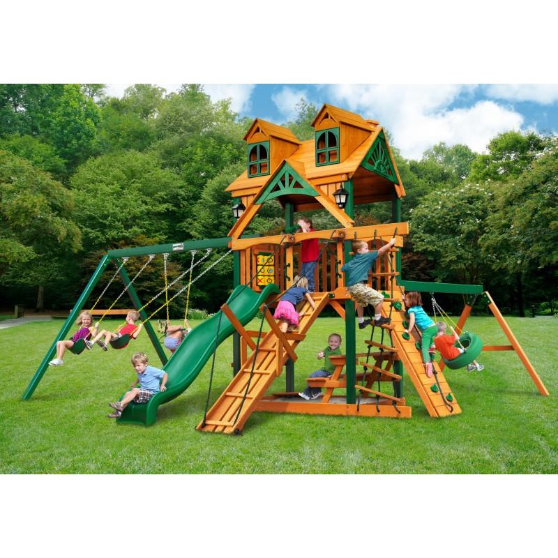Gorilla Malibu Frontier Cedar Wood Swing Set Kit w/ Timber Shield™ - Amber (01-0075-TS)