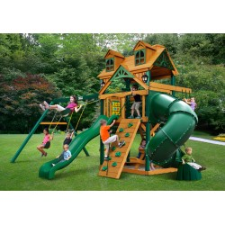 Gorilla Malibu Extreme Cedar Wood Swing Set Kit w/ Timber Shield™ (01-0046-TS)