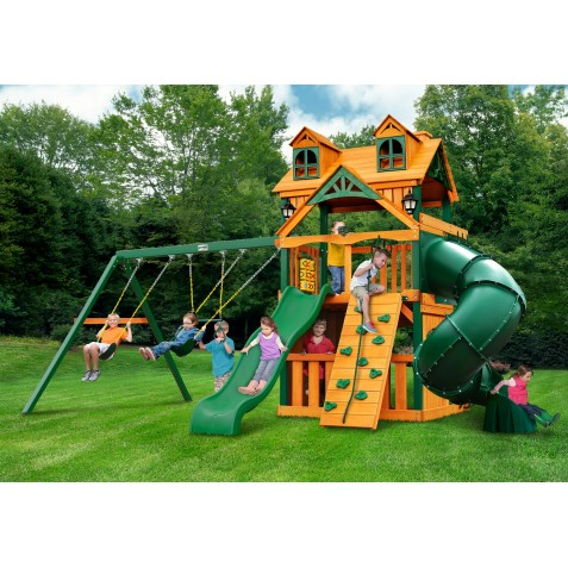 Gorilla Malibu Extreme Clubhouse Cedar Wood Swing Set Kit w/ Timber Shield™ - Amber (01-0073-TS)