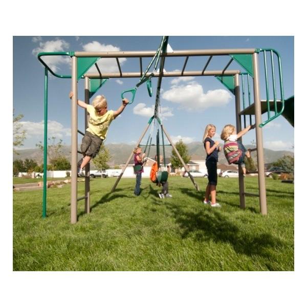 Lifetime Monkey Bar Swing Set Earthtone 90143