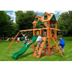 Gorilla Malibu Cedar Wood Swing Set Kit w/ Amber Posts - Amber (01-0045-AP)