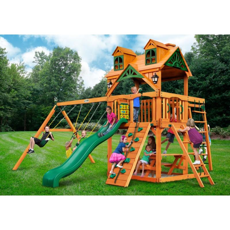 Gorilla Malibu Navigator Cedar Swing Set Kit w/ Amber Posts - Amber (01-0074-AP)