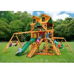 Gorilla Malibu Frontier Cedar Swing Set Kit w/ Amber Posts - Amber (01-0075-AP)