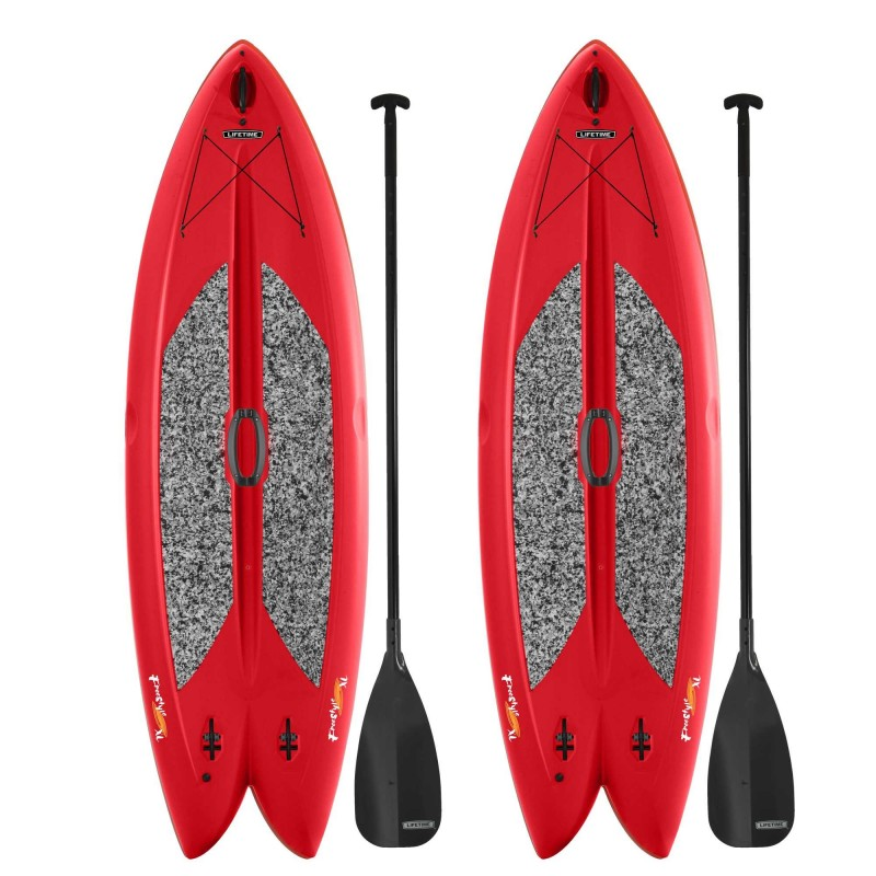 Lifetime 2-Pack Freestyle XL Paddleboards w/ Paddles - Red (90445)