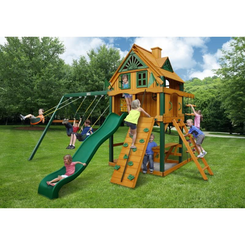 Gorilla Mountain Ridge Cedar Wood Swing Set Kit w/ Timber Shield™ - Amber (01-0071-TS)