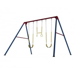 Lifetime Heavy-Duty A-Frame Metal Swing Set - Primary Colors (90200)