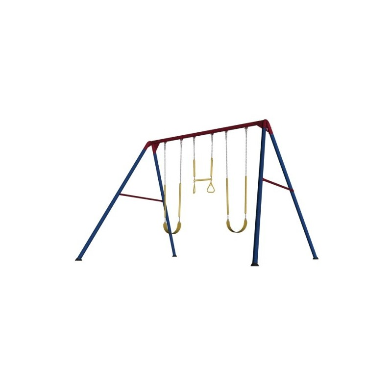 Lifetime Heavy-Duty A-Frame Metal Swing Set (Primary Colors) 90200