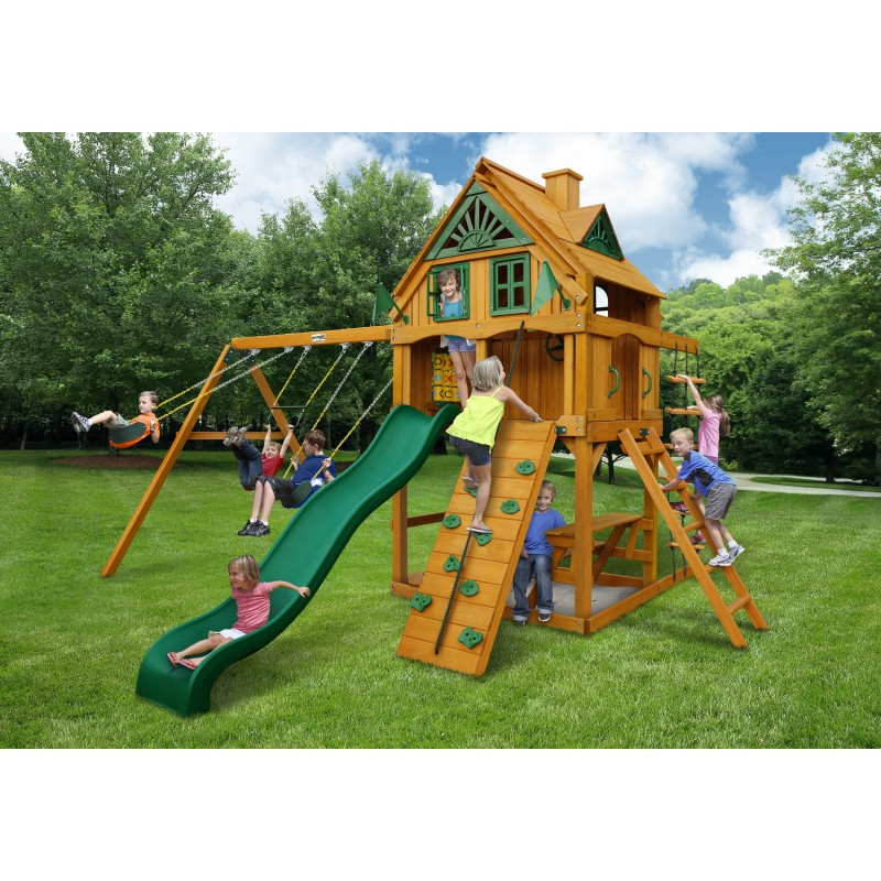 Gorilla Mountain Ridge Cedar Wood Swing Set Kit w/ Amber Posts - Amber (01-0071-AP)