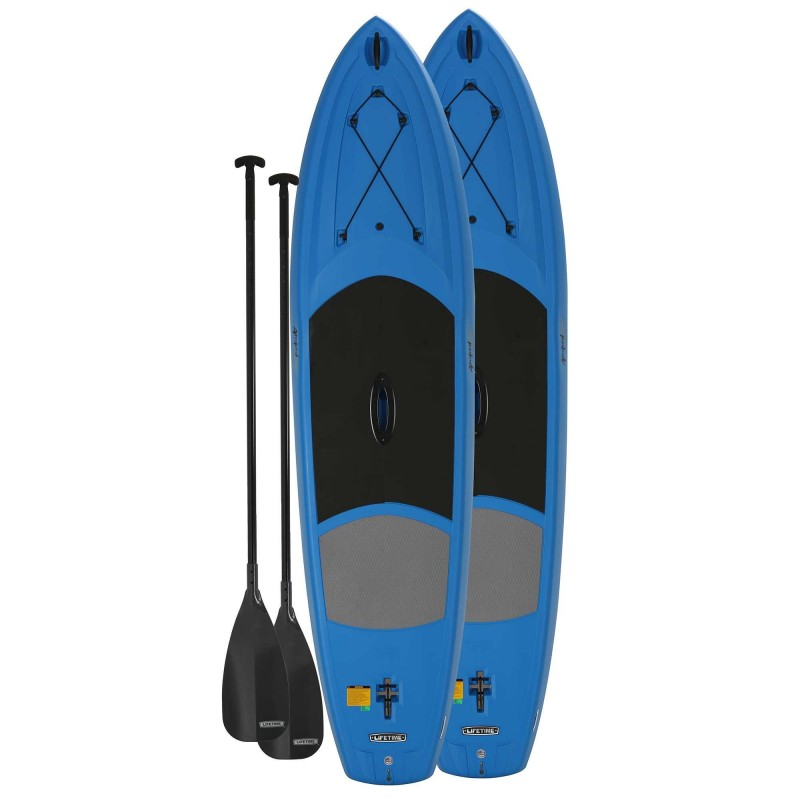 Lifetime 2-Pack 11 ft Amped Paddleboards w/ Paddles - Dragonfly Blue (90657)