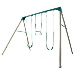 Lifetime Heavy-Duty A-Frame Metal Swing Set (Earthtone) 290038