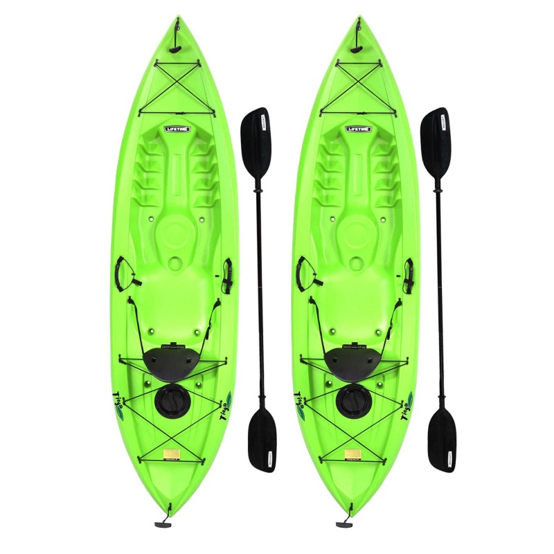 Lifetime 2-PACK Tioga 10 ft Kayaks - Lime Green (90643)